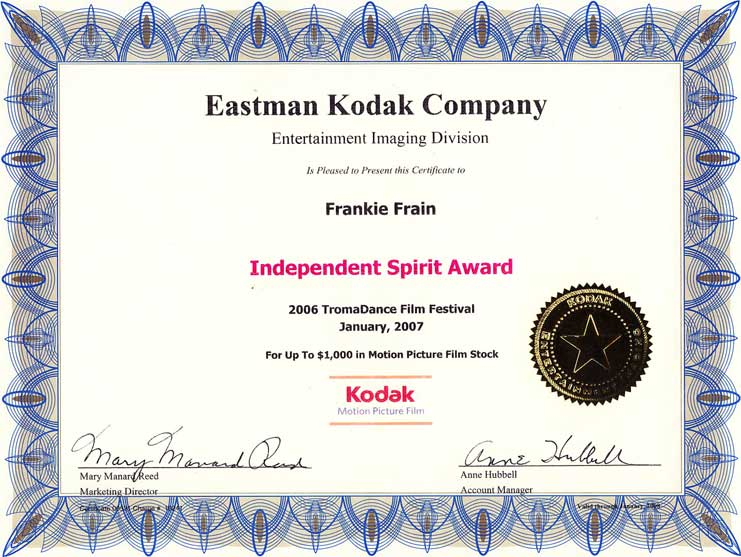 Kodak Independent Spirit Award - I Need to Lose Ten Pounds